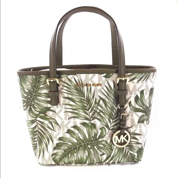 310ccaa6f846eb Michael Kors Bags | New Small Tropical Palm Tree Tote Nwt | Poshmark
